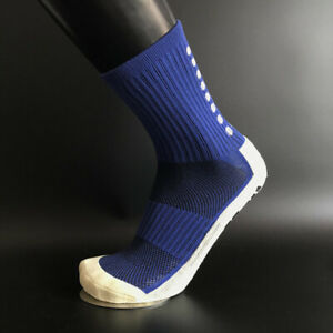 1 pair Football Socks Anti Slip Non Slip Grip Pads Sports Soccer Trusox Style