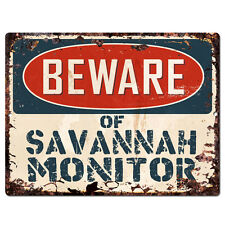 PP4206 Beware of SAVANNAH MONITOR Plate Rustic Chic Sign Home Store Decor Gift