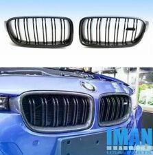 Carbon Fiber Black 2 Slat Kidney Grille Grill For BMW F30 320i 328i 335i 2012-17