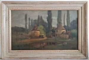 Original 19C Oil Painting Canadian Francois De Blois ( 1829-1913 )