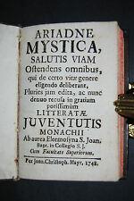 Ariadne mystica - Lateinisches Andachtsbuch - München 1748