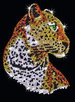 Sequin Art Leopard Craft Kit by KSG SA1208