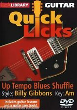 Lick Library aprender a jugar rápido Lame Billy Gibbons Blues Zz Top Guitarra Dvd