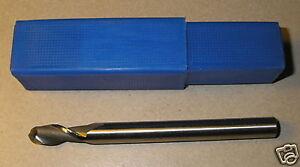 HSS Two Flute Ball Nose 4mm Radius - Straight Shank