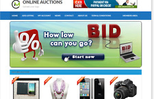 Online Auctions - Website for Sale Hosting Included