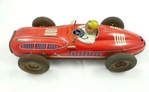 GIOCO DI LATTA VINTAGE TIN TOY AUTO  CORSA RACE CAR TAIFUN 100 WESTERN GERMANY