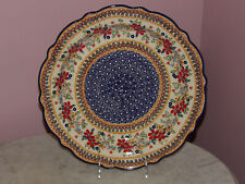 Polish Pottery Medium Scalloped Platter! UNIKAT Signature Rembrandt!