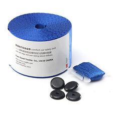 BLUE Universal Racing Front 3 Point Safety Retractable Van Car Seat Lap Belt