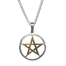 Silver and Gold Plated Pentagram Pendant Necklace for Balance and Harmony