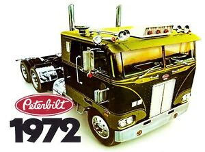 PETERBILT STICKER DECAL 1972 SEMI TRUCK GARAGE LABEL MAN CAVE TOOLBOX USA