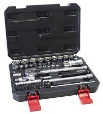 """52Pc Heavy Duty 12 Point 1/4"""" & 3/8"""" Socket Ratchet Extension Bar Bit Set-I0635"""