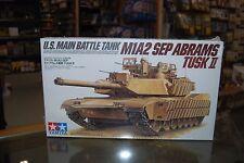 Tamiya 35326 1:35 U.S. Main Battle Tank M1A2 SEP Abrams Tusk II with 2 Figures