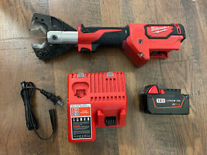 MILWAUKEE 2672-20 FORCE LOGIC CABLE CUTTER Battery Charger Jaw 48-44-0411 led