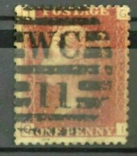 SG43 1d Penny Red -Stamp - Plate 123 10-3859-8518-58 Position GI