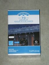 Holiday Time 70 Blue LED Micro Icicle Style Lights NEW!!!!