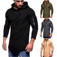 Herren Kapuzenpullover Pulli Sweater Sweatshirt Langarm Stretch Sports Tops H/J