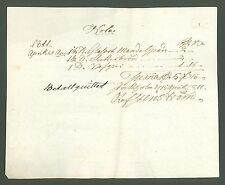 Document #B43 original old Note Bill List SWEDEN 1811