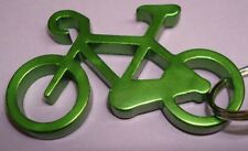 "NEW Aluminium 2"" Long GREEN BIKE Bicycle Key chain bottle opener with KEY RING"
