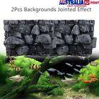 60x45cm 3D PU Rock Stone Reptile Aquarium Fish Tank Background Board Plate Decor