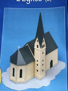 MKD Eglise HO maquette immeuble maison village de France # 12 & 13 FALLER