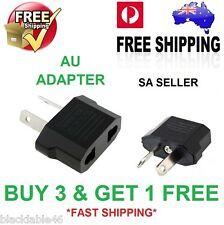 AU Travel Power Adapter from US EU to AU Adapter SA SELLER FAST POSTAGE