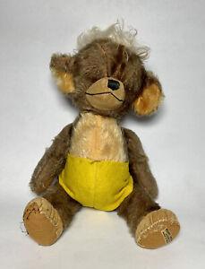 """Rare 1949 Merrythought Teddy Bear: Punkinhead Eatons 14"""" tall"""