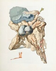 The Divine Comedy (Hell Canto #7), Limited Edition Engraving, Salvador Dali