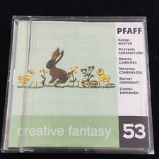 Pfaff Creative Embroidery Designs Card #53 Patterns for 7570 2140 2160 2170