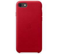 iPhone 7 / 8 / SE 2 (4.7) Apple Echt Original Leder Schütz Hülle - Rot