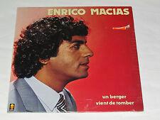 ENRICO MACIAS Un Berger Vient de Tomber LP NEW SEALED Disques Trema Vinyl French