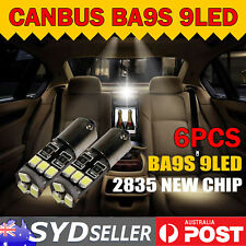 6x Canbus LED Light BA9S 2835 SMD 1895 Bayonet Park Indicator Stop Bulb No Error
