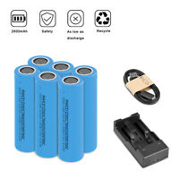 3.7V 18650 2800mAh Li-ion Rechargeable Battery For Flashlight Torch RC + Charger