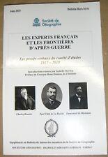 Les experts français et les frontières d'après guerre Société géographie HS 2015