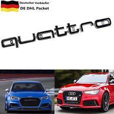 Schwarz Audi Quattro Grill LOGO Badge Abzeichen Emblem A4L A4 A5 RS4 RS5 RS6 S3