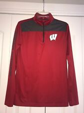 Under Armour Wisconsin Badgers Boys Youth XL Quarter Zip Shirt