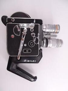 Paillard Bolex Switzerland H16 Reflex 16mm Film Video Movie Camera 3 Lens Vtg