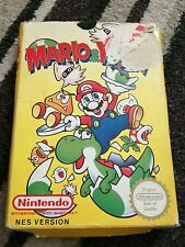 Mario and Yoshi Nintendo NES Game Boxed PAL Cartridge and sleeve