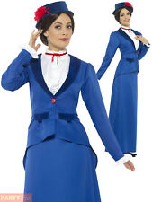 Ladies Victorian Nanny Costume Adults Fancy Dress Mary Book Week Outfit