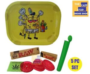 Premium Metal Smoke Arsenal Rolling Tray With Accessories Cartoon New Design 5PC