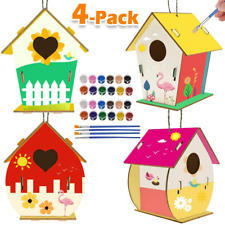 Kids Activities Art and Crafts for Kids 4-Pack Diy Bird House Kit for Children t