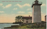 Hospital Point Lighthouse, Beverly, Ma, vintage postcard  *Free Shipping*