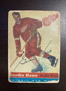 1954-55 Topps Hockey #8 Gordie Howe Red Wings HOF