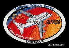 ORIGINAL NASA FINAL FERRY FLIGHT ENDEAVOUR SHUTTLE CARRIERS SCA AB Emblem PATCH