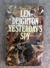 Len Deighton 1st UK Edition Yesterday's Spy Jonathan Cape 1975 unclipped DJ