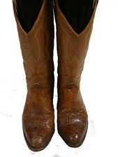 Custom Made Men's Western Leather Boots / Brown Size 7 B