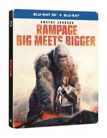 Rampage Limited Steelbook 3D + 2D Blu Ray