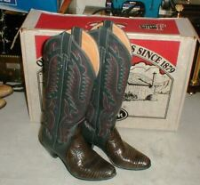 Amazing JUSTIN EXOTIC Grey LIZARD Leather Women's Cowboy Western Boots sz 5.5