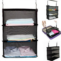 Luggage System Packable Hanging Travel Shelves 3Layer Packing Cube Bag Organizer