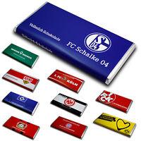 Bundesliga Team Schokolade, Schokoladentafel, Fußball Liga Geschenk Verein Sport
