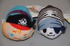 (2) New Pirates of the Caribbean Tsum Tsums Skeleton Ghost & Captain NWT